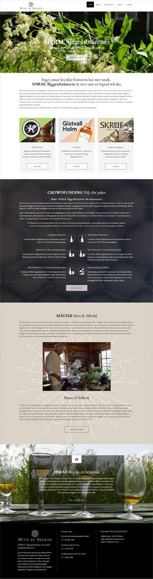 Crowdfundade brännvinet SPIRAE finns på www.ruusbrannvin.se